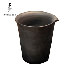 多少MORELESS景德镇黑釉公道杯匀杯公杯陶杯中式手工茶具