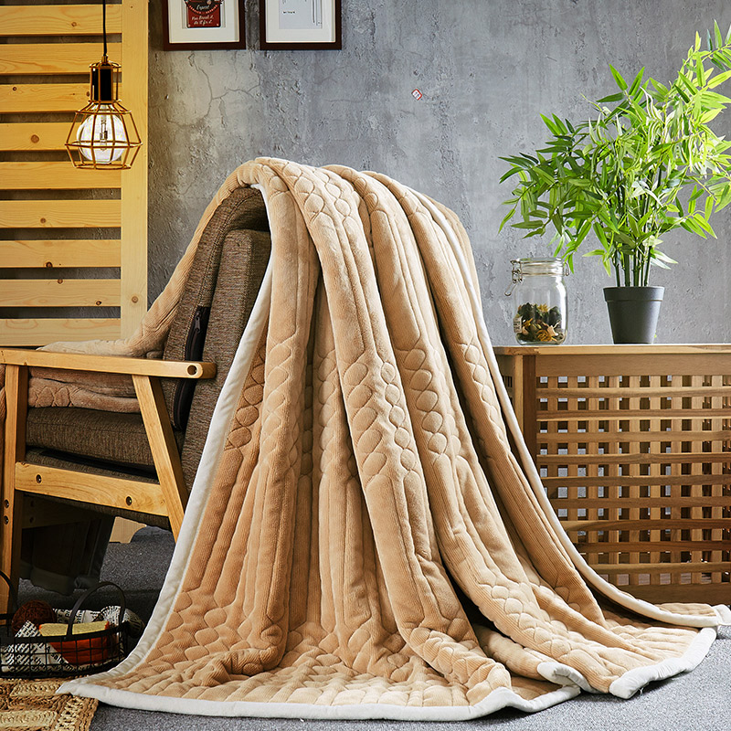 妃冠珊瑚绒毯12