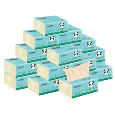 维邦本色抽纸批发家庭装家用餐巾纸卫生纸面巾婴儿纸巾纸纸抽整箱