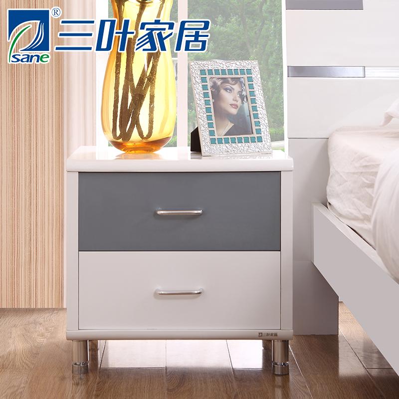 三叶板式床头柜0283床头柜