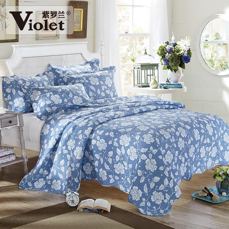 紫罗兰纯棉绗缝床盖cdag