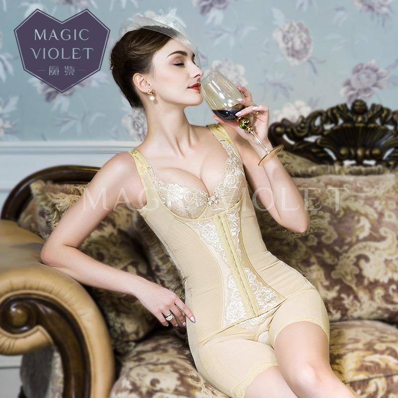 魔紫美容院正品身材管理器收腹束腰塑身连体衣夏季薄美体无痕ML35