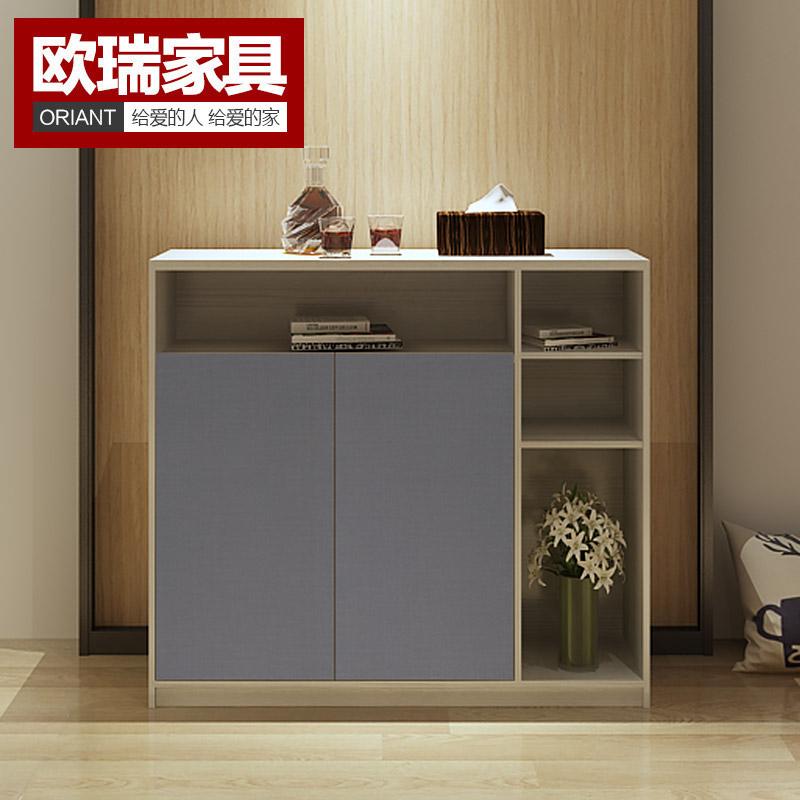 欧瑞家具现代白橡木纹鞋柜AN531