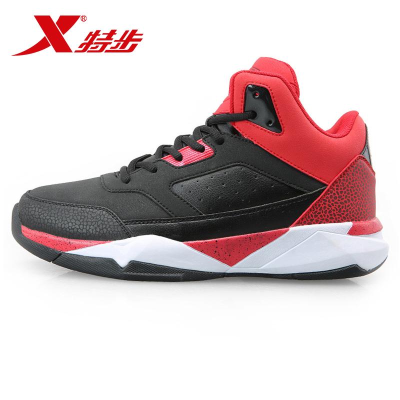 Xtep баскетбол обувной мужская обувь подлинный зимний осенний новинка спортивной обуви мужчина высокий затухание кроссовки износостойкие противоскользящие ботинки волна