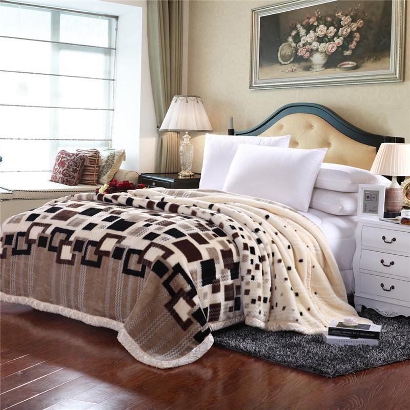 妃冠毛毯拉舍尔冬季单人毯子GX-LSE001