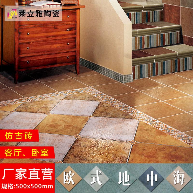 莱立雅田园瓷砖复古圆角砖500x500