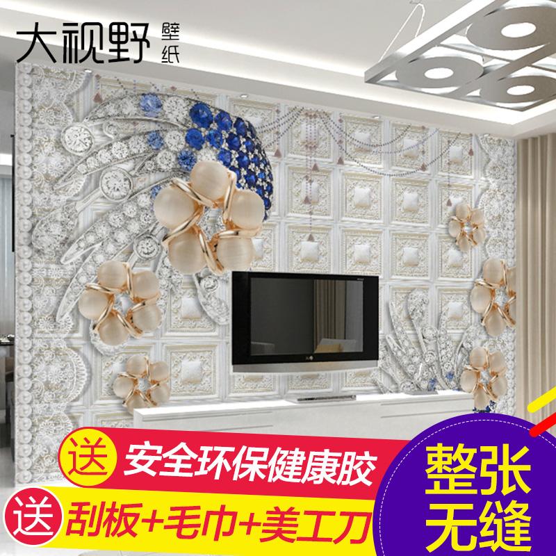 大视野欧式钻石珠花壁纸15760108