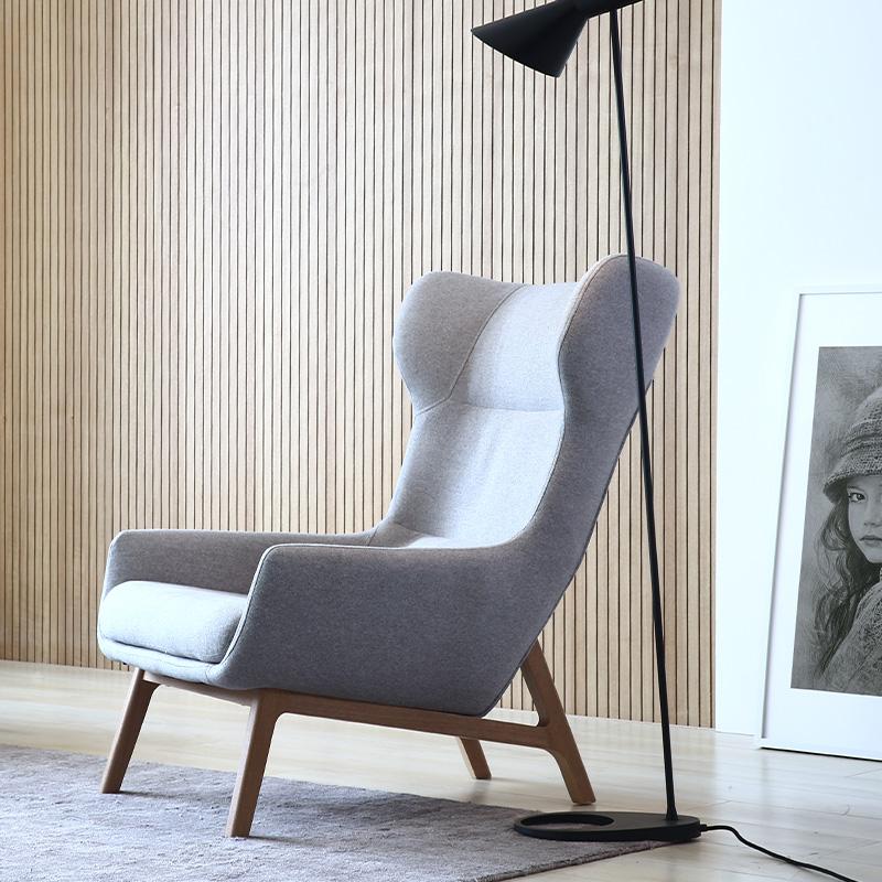 北欧单人沙发椅小户型客厅家具简约现代布艺小沙发时尚休闲老虎椅