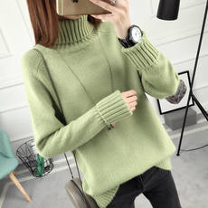 Autumn and winter new loose high collar sets of sweaters female autumn and winter Korean version of the long-sleeved wild sweater thickening