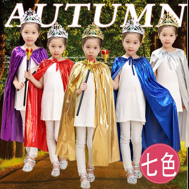 披风斗篷cos儿童装扮披风面具舞会巫婆表演服舞台公主装扮演出服