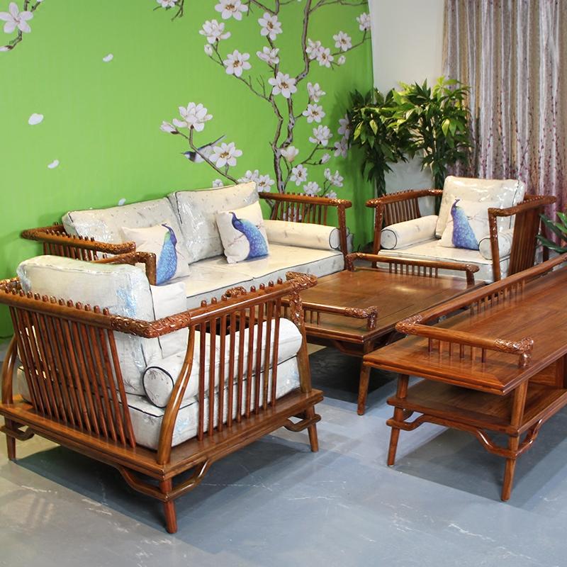 硕贝尔红木家具刺猬紫檀新中式沙发苏梨出人头地客厅京瓷沙发组合
