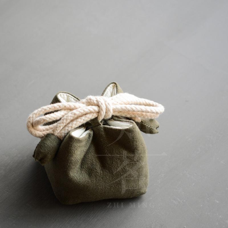 知茗棉麻茶具包双色素布茶包