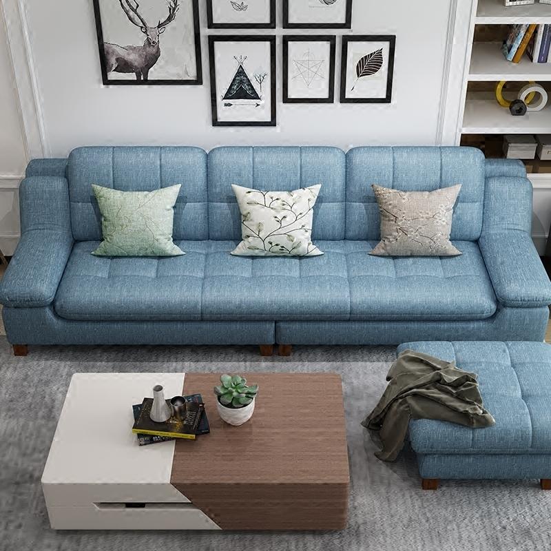 科技布沙发纳米防水北欧现代简约三四人位小户型客厅免洗布艺沙发