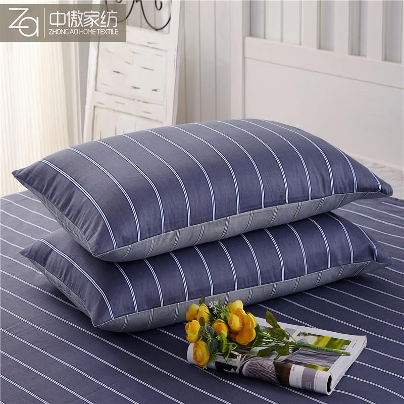 中傲全棉斜纹印花枕4874cm枕芯套枕巾一只装