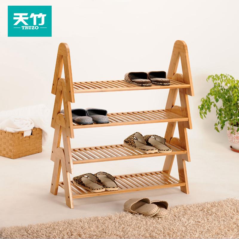 天竹楠竹防尘实木鞋柜TZ-ddJ01