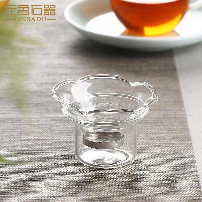 左茗右器创意耐热玻璃茶滤网手柄