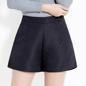短裤女士秋冬款外穿大码黑色高腰冬季靴裤A字百搭显瘦打底阔腿裤