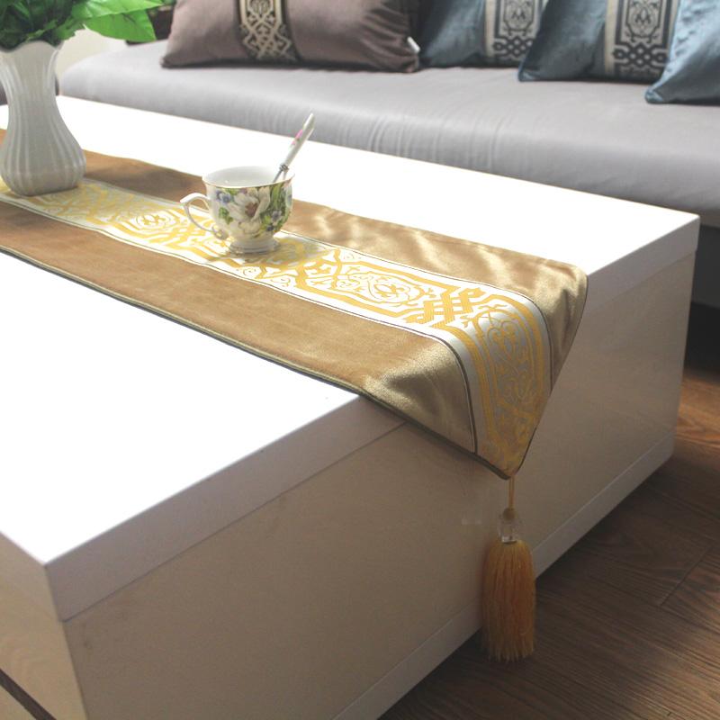 丝茉尔土豪金色中式欧式餐桌201695E