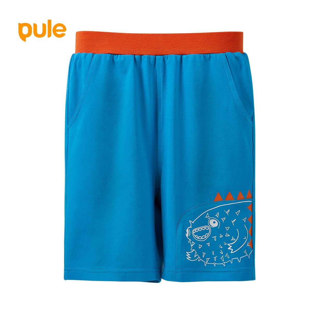 pule男童短裤夏薄款中大童儿童宝宝纯棉休闲运动裤子卡通运动童装
