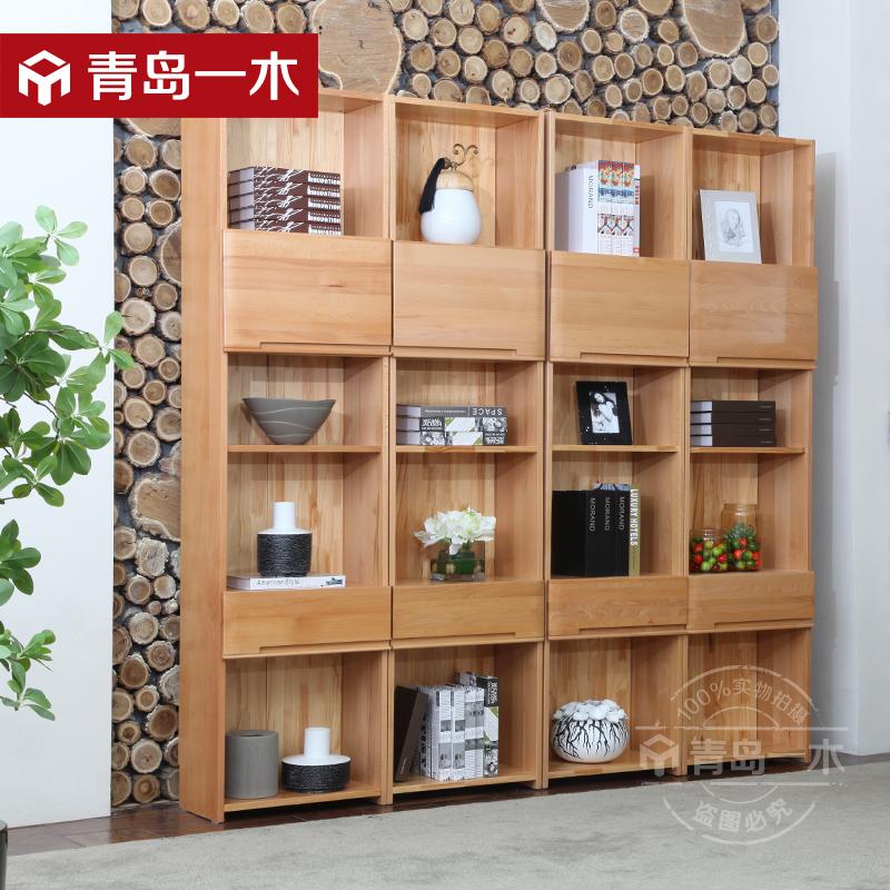 一木全实木书柜单门QY01组合书柜