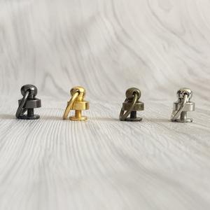 纯铜带环和尚头奶嘴钉箱包配件手工奶嘴扣皮具装饰钱包五金财布扣