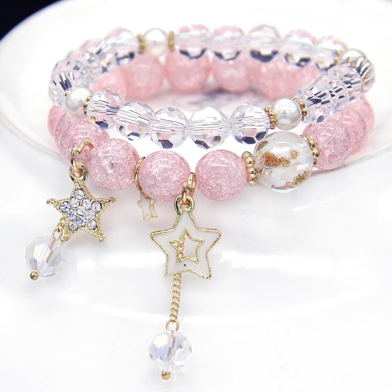 天蝎座紫色水晶手链12星座巨蟹座手串闺蜜朋友情侣礼品包邮