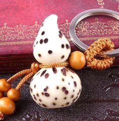 龙义龙义千眼菩提貔貅钥匙扣葫芦挂件木雕礼品随身携带2000359