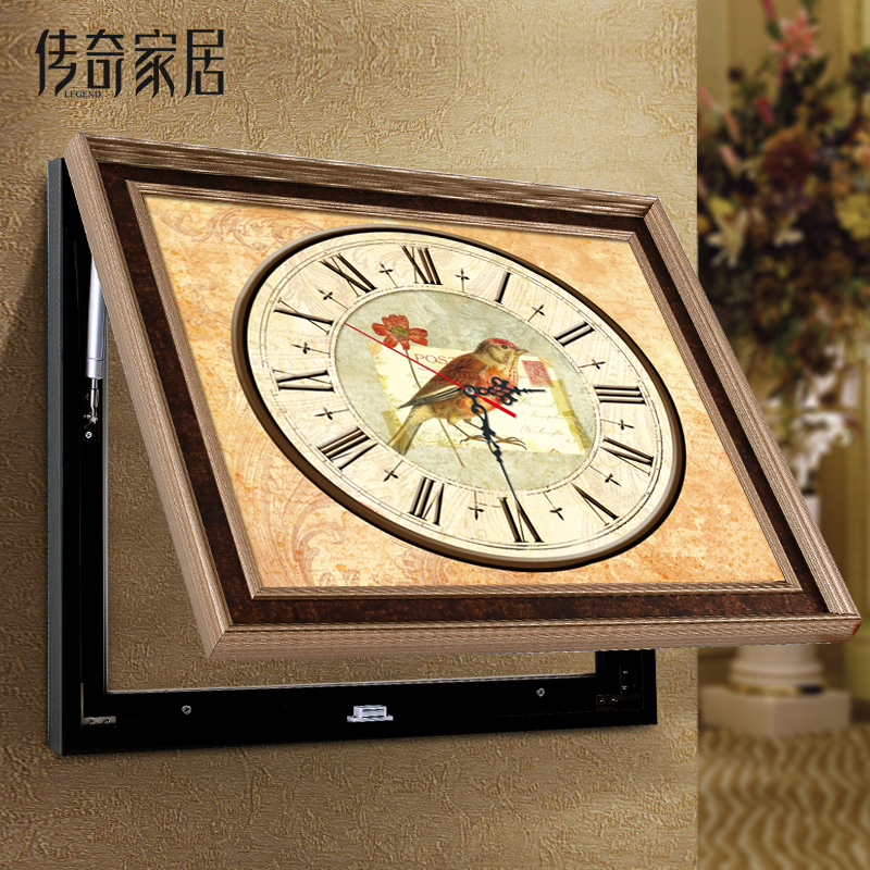 传奇电表箱装饰画钟表A06-B2
