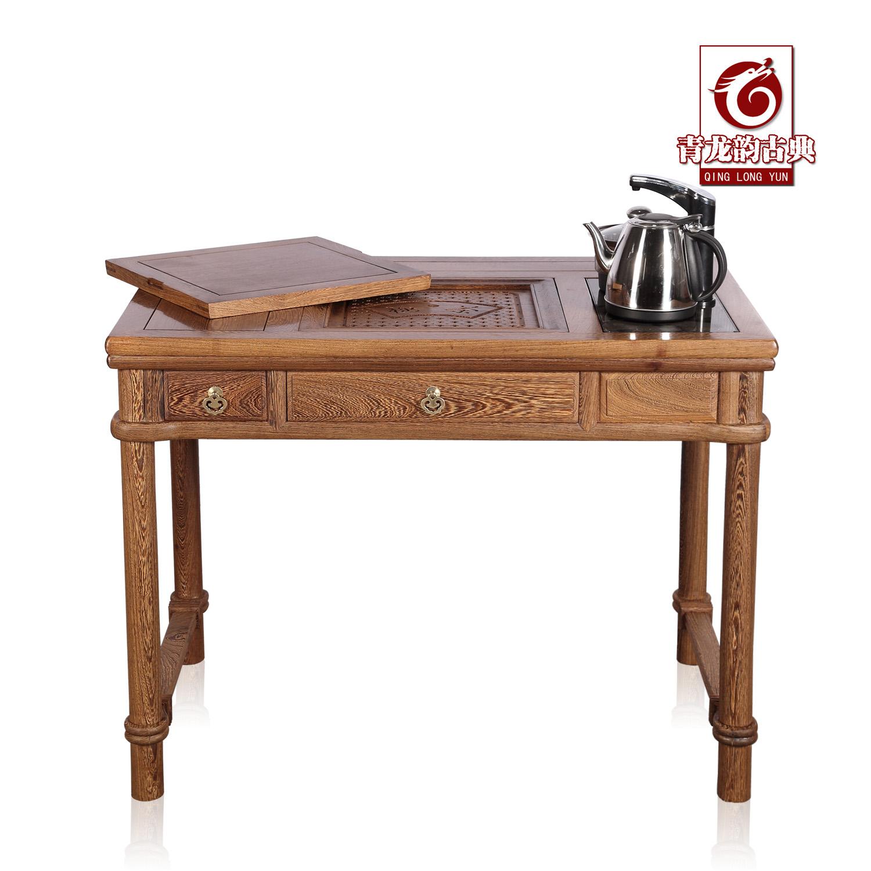 青龙韵鸡翅木泡茶桌cz041