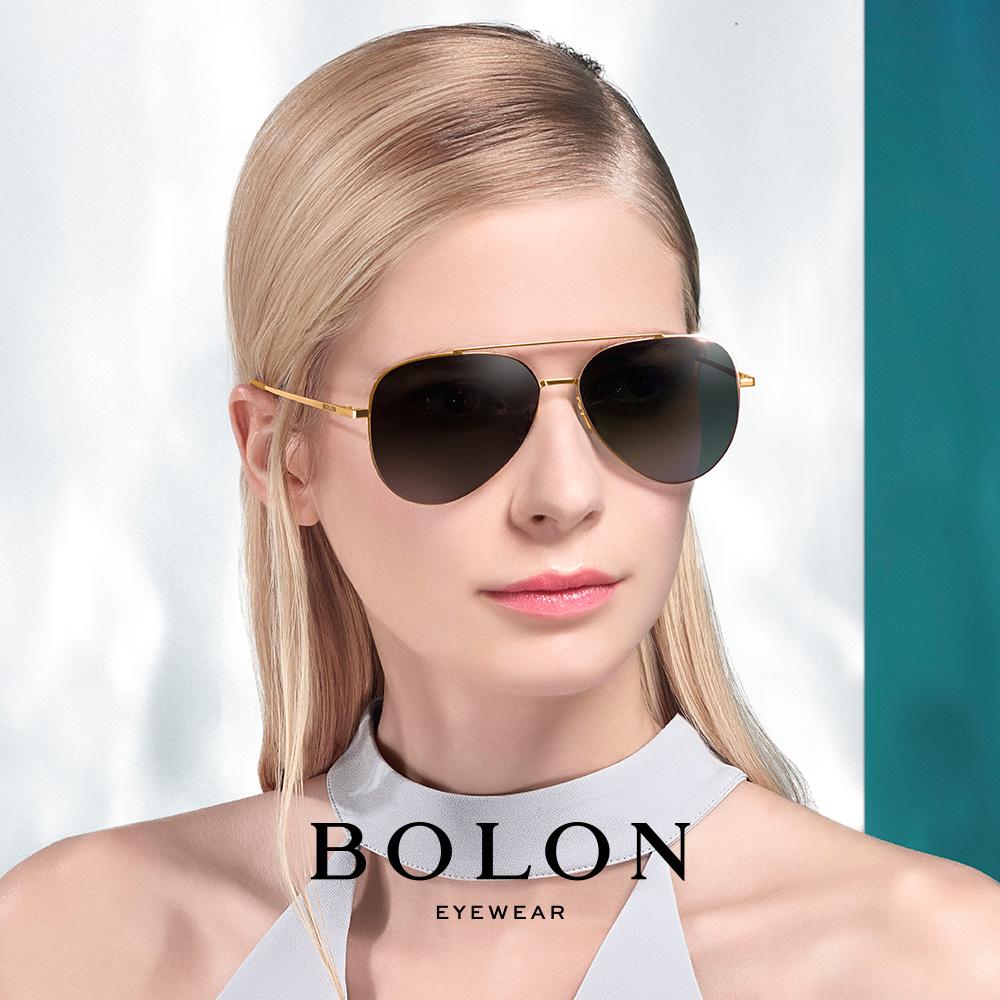 BOLON暴龙偏光太阳镜男女复古蛤蟆镜时尚金属墨镜开车眼镜BL8010