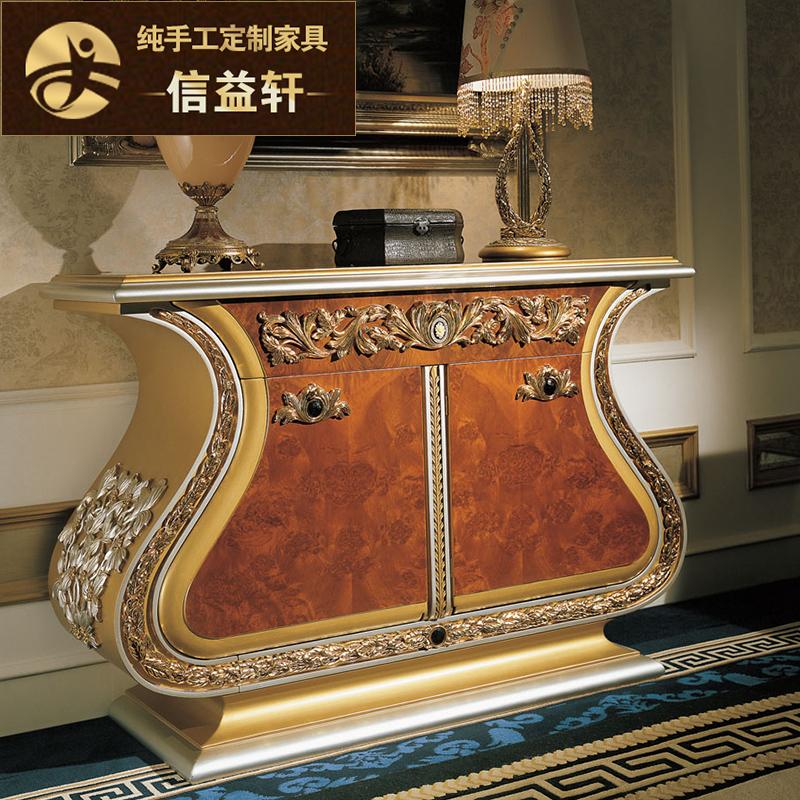 信益轩法式奢华金色实木门柜G-019