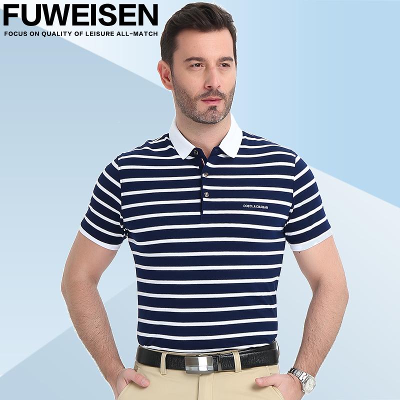 纯棉商务装短袖T恤男士polo衫