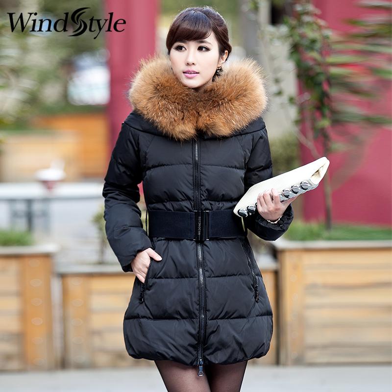 2016冬季新品韩版大码修身显瘦加厚大毛领羽绒服女中长款羽绒衣潮