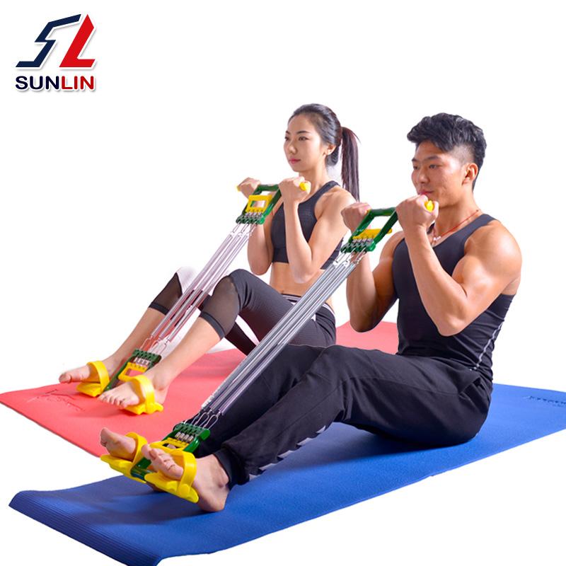 双林仰卧起坐拉力器脚蹬瘦肚子健身器材家用女男多功能弹簧扩胸器