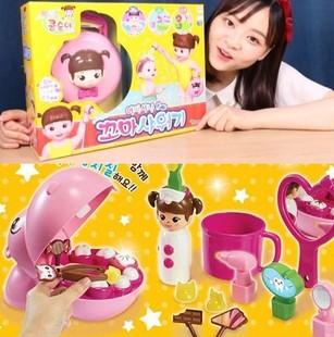 洋娃娃 韩国代购正品 小豆子洋娃娃 小伶玩具 婴儿洗澡 刷牙亲子游戏图片