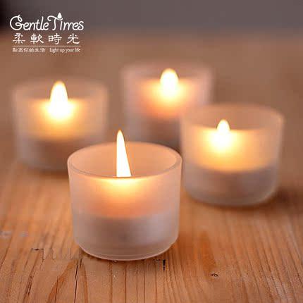 玻璃杯蜡烛台灯简约创意餐厅烛光晚餐浪漫道具婚庆创意生日礼物