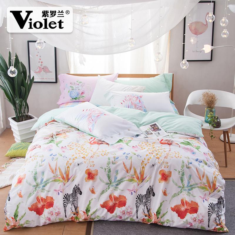 紫罗兰被套床单1736