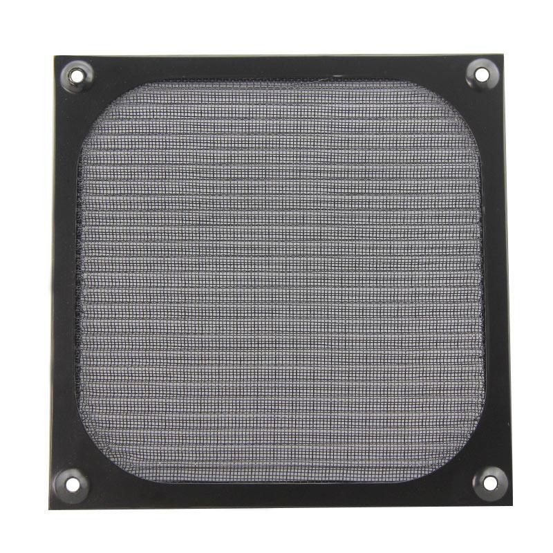 Защитный экран для монитора Пыль сети 14см 14см чехол вентилятор пыли сетевой алюминиевый пыль крышка черный винтов