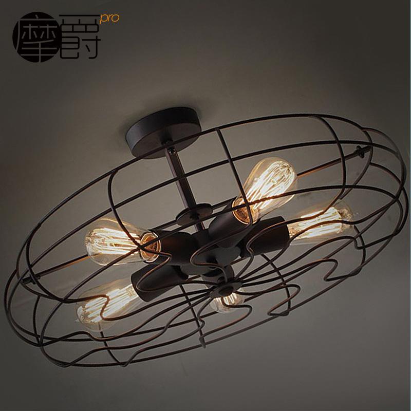 摩爵工业风电扇吸顶灯MJ X3527-15427