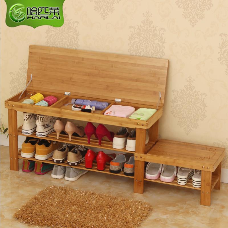 换鞋凳式鞋柜门口可坐穿鞋凳实木储物凳收纳现代简约鞋架小凳子