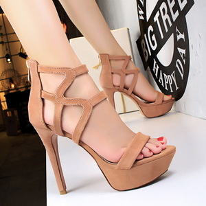 2760-1 the European and American wind restoring ancient ways is the Roman style high heels high strappy sandals with wat