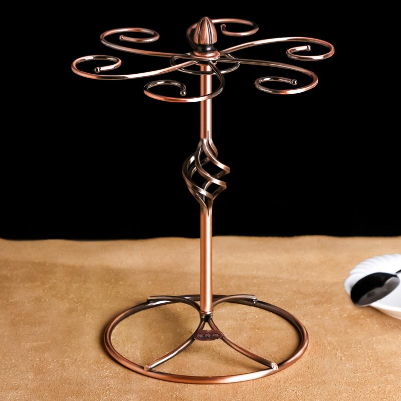 雅典娜复古红酒杯架摆件75906