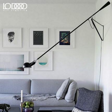 乐灯北欧现代简约复古壁灯客厅卧室床头灯具阅读灯创意可摇臂墙灯