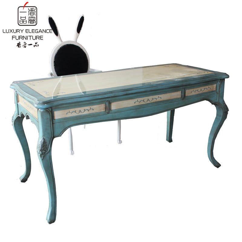 香奢一品家具美式实木书桌XH105