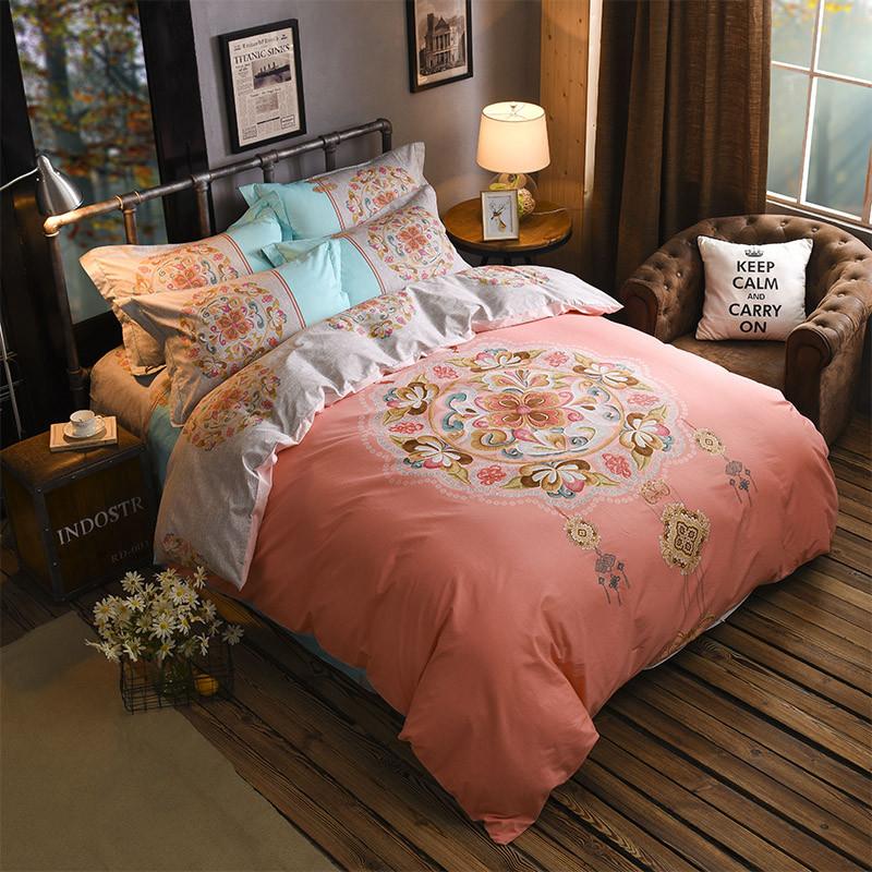 纯棉四件套全棉1.8米床上用品1.5被套床笠2.0m床单双人斜纹套件
