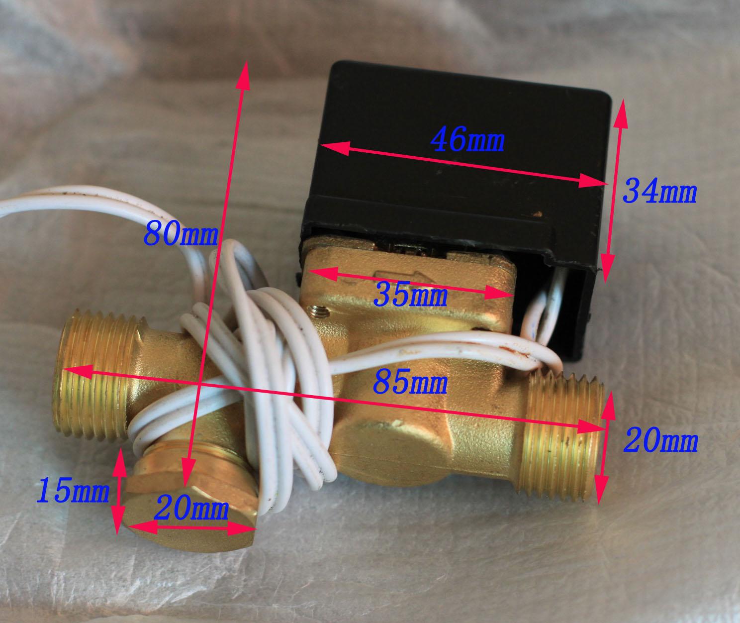 Клапан соленоидный Медные солнечной горячей воды электромагнитный клапан заполнения клапан dc12v 4 нормально закрытый клапан меди давления клапан