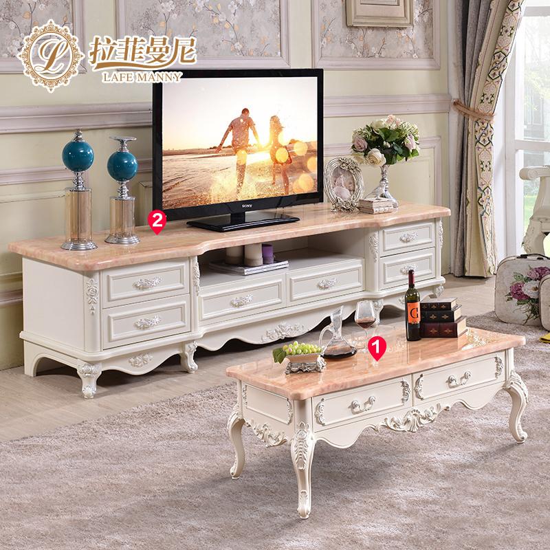 拉菲曼尼欧式大理石电视柜茶几 FK015-FJ003
