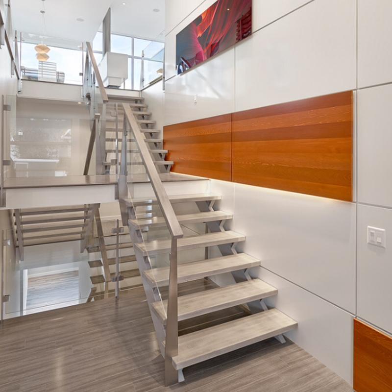 楼尚公馆楼梯复式loft楼梯001红白