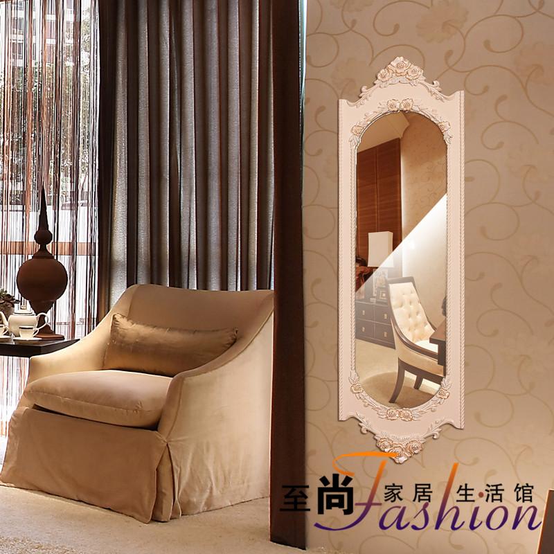 Зеркало в полный рост Европейского стиля настенный зеркало тела зеркало простой современный летающих общем пол монтаж шкаф зеркало-зеркало-зеркало