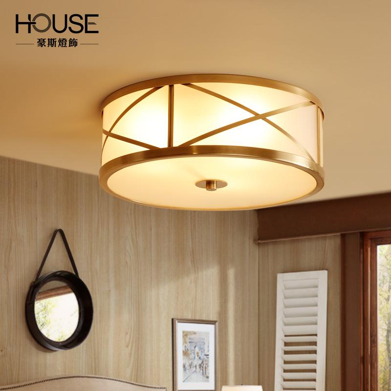 豪斯美式全铜灯吸顶灯MX32205